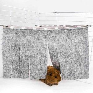 Small Animal Supplies Portable Folding Pet Tent Hamster Dodge House Tassel Hammock Corner Nest Accessories Easy Operation Fence
