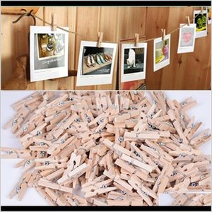 50 Pcs 25Mm Quality Mini Spring Wood Clothes Po Paper Peg Pin Clothespin Craft Party Decoration Prfzb Other Decor Gofn8