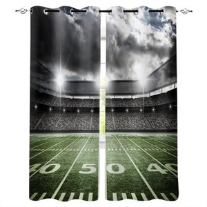 Curtain & Drapes Soccer Football Game Competition In Gymnasium Window Treatments Curtains Valance Dark Bathroom Outdoor Kitchen
