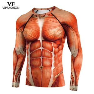 VIP 패션 라글란 슬리브 애니메이션 3D 인쇄 슈퍼 히어로 공격 Titans 긴 소매 운동 전투 정장 압축 셔츠 210324