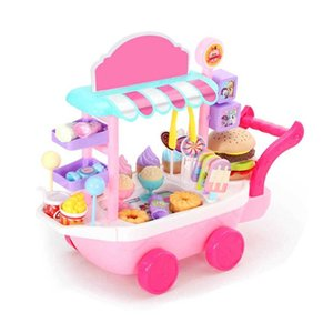 Ice Cream Candy Trolley House Play Toys Car Cart Brain Game Kids Children Gift Set