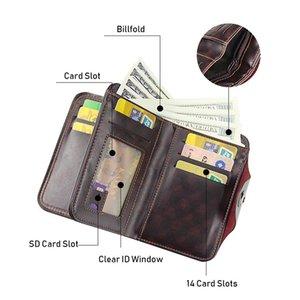 Мужская мужская ретро кожаный вертикальный разрез держатель кредитной карты кошелек с HASP