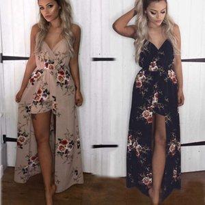 Summer2021 여성용 V-Neck Backless Jumpsuit Beach 섹시한 드레스의 고품질 반바지