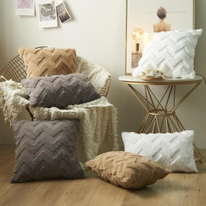 Fluffy Plush Pillow Case Super Soft Cushion Cover Spring Decor Throw Covers For Sofa Bed Home Living Room Decoration Cushion Decorative