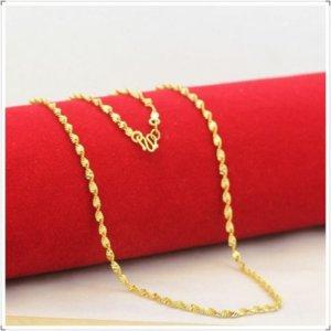 Collar de oro cadena a granel de joyería de bricolaje haciendo accesorios de cadena de shuibo hechos a mano