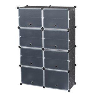 Башня полки хранения коробки обувь стойки Организатор, 14 сетки, 7-уровня портативный 28 пара, стенд расширяется, для каблуки, сапоги, тапочки, черный