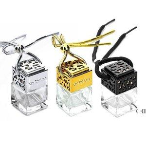 شكل مربع زجاج السيارات زجاجات العطور قلادة 6 ملليلتر العطور فارغة شنقا سيارات الناشر زجاجة 4 ألوان BWC7668