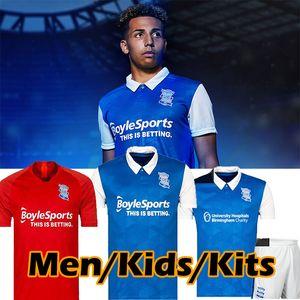 20/21 Birmingham Lukasz Jutkiewicz Fussball Jersey 2020 2021 Birmingham City Sam Gallagher Trikots Männer Kids Kits Home Football Hemden