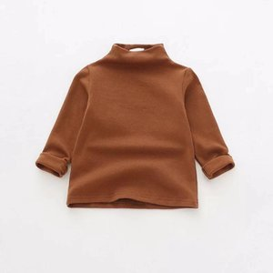 2021 DUDU INS Spring Autumn Kids t-shirts,t-shirtGirls Blank Tshirts Children High Neck Cotton Soft Tops Tees Designer Child Boys Clothing Outfits