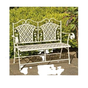 Popular Nice Unique Design Metal Chair Home Cast Iron Patio Garden Bench