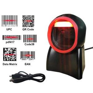 Printers 2D Omnidirectional Barcode Scanner 1D QR Code Desktop Bar Reader For Supermarket Store Auto Sense Data Matrix