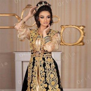 Modest Traditional Kosovo Albanian Robes Black Evening Dresses Women Party Night 2021 Lace Prom Dress vestido De Fiesta De Boda L0312