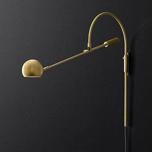 Wall Lamps American Retro Rotatable Lamp G9 LED Living Room Sconce Bedside Light Reading Gold Black Long Arm Study