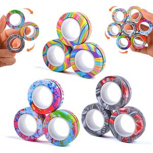 Stock Magnetic Rings Fidget Spinner Toy for Anxiety Relief Stress Toys Therapy Pack Adults Teens Kids