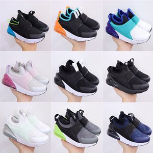 2021 NIÑO 270 Niños Niños Correr Zapato Blackout Blackout Ganar como 96 UNC TEESS Boys Girls Trainers Black Stingray Niños Deportes Sneaker Shoes Tamaño 22-35