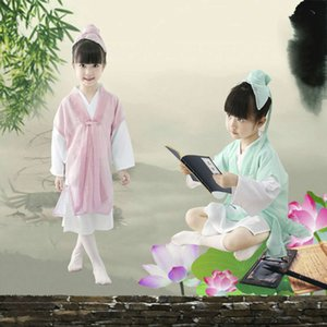 Ancient Chinese Student Costumes for Children Chinese Traditional Robe Kids Folk Hanfu Tang Dynasty for Scholar Clothes