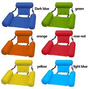 Inflatable Floats & Tubes Foldable Floating Bed Swimming Pool Water Longue With Backrest Ergonomic Anti-Leakage Sleeping Cushion