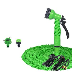 Garden Magic Flexible Hose Expandable Reels Plastic Hoses Pipe With Multifunction Spray Gun Car Wash 25FT-250FT Watering Equipments