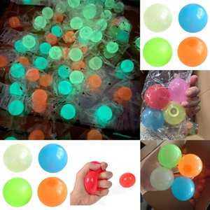 High quality sticky wall balloon luminous ceiling ball decompression viscose target night light squeeze children's toys