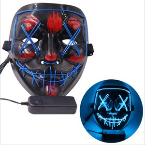 Halloween Mask LED Light Up Party Masks The Purge Election Year Great Funny Masks Festival Cosplay Costume Supplies Glow In Dark 493 R2