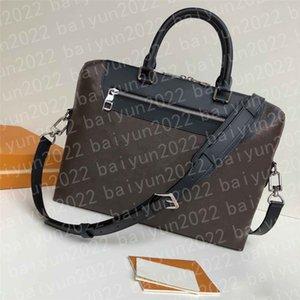 High Quality men Business briefcase Crossbody Men's classic Handbag Fashion messenger Shoulder Bag man's Black Brown Leather Laptop Man attache case Computer Bags