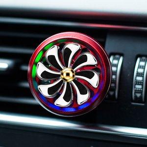 Светодиодный автомобильный освежитель воздуха Авто выпускной парфюмерный сплава клип автоматический ароматерапийный аромат автомобиль парфюмер диффузор интерьера украшения