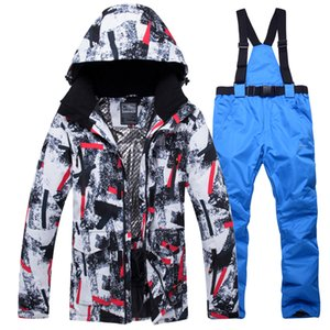 Skiing Jackets Mens Camouflage Ski Suit Waterproof Breathable Snowboard Jacket Winter Snow Pants Suits Male And Snowboarding Sets