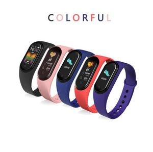 M5 Bluetooth Smart Bracelet Wristband Heart Rate Blood Pressure Fitness Smart Bracelet Watch IP67 Waterproof Large Screen Bluetooth Pedomete