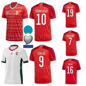Equipe Nacional da Europa Hungria Jersey Home 10 Szoboszlai 9 Szalai 23 Nikolic 6 Orban 8 Nagy 7 Dzsudzsak Camisa de Futebol Kits