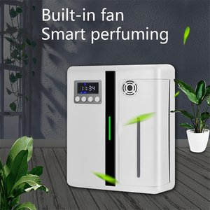 White Scent Humidifiers Machines With Fan Inside HVAC 500m3 Aroma Unit Diffuser 300ml Air Purifier For Large Area Hotel Lobby Home Fragrance