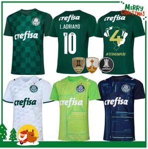 21 22 Palmeiras Soccer Jersey Home Green Dudu G.Jesus B. Henrique Alcsandro 2021 2022 قميص رجل كرة قدم للبالغين