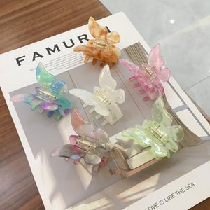 Super Immortal Retro Ins Mermaid Color Hair Accessories Acetic Acid Butterfly Hairpin Sweet Fairy Dish Hairs Catch 5 8xz T2