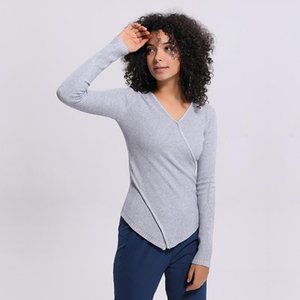 Yoga Outfits LU-56 Winter Solid Color Sweater Women Sports Shirts Gym Tanks Fitness Tops Sexy Lady Running Jacket