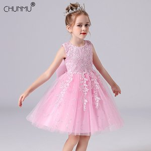 Kids Girl Flower Dress Children Party Wedding Pageant Formal for Princess First Communion Costume 210508