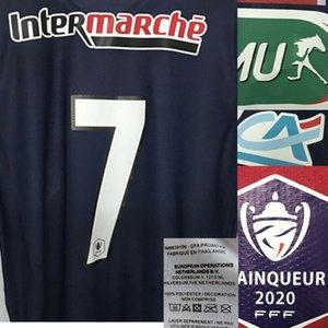 Home Textile Coupe de France Maillot Player Problems Match indossato Tutto Sponosr Badge tazza della Coppa della Lega francese