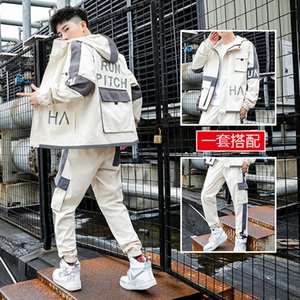 Overalls Menswear Fashion Brand with a Set of Handsome Casual Sports Suit Mens Jacket Korean Style Spring and Autumn Clothes
