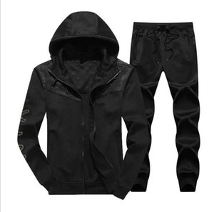Mens Designer Tracksuits Cardigan Jackets Hooded Hoodies Long Pants Sweatsuits Casual Active Print NK Suits