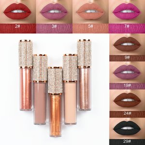 Diamond DIY High Pigment Matte Velvet Liquid Lipstick Makeup Vegan Shiny Lipgloss Waterproof Long Lasting Custom Private