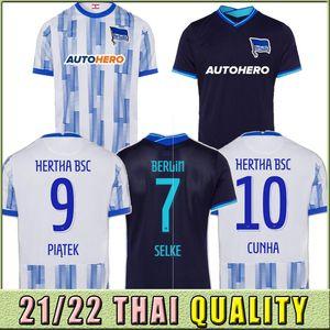 21 22 Jersey de football Hertha BSC Guendouzi Cunha Piatek Jersey Berlin Cordoba Dilrosun Tousart Lukebakio Uniforme Chemises 2021 2022