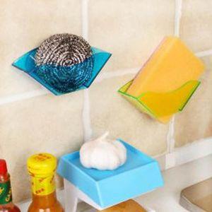 Multifunktions-Waschbecken-Speicherregal Doppel-Saugnapf Trocknung Rack Schwammhalter Badezimmer Zubehör Küchenorganisator Organization