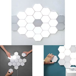 Quantum Light Touch Wall Lamp Induction Hexagon Led Bedroom Combination Lamps Suspension Inductions Splicing Lighting