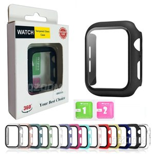 PC Hard Watch Cases with Screen Protector for Apple iwatch Series 6 5 4 3 2 1 SE Full Coverage Case 38mm 40mm 42mm 44mm And Retail Package