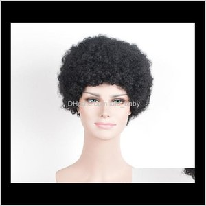 Zf African Black Man Short Curly 25Cm Wildcurl Up Hair Fashion European And American Wig Export 5Dxox Synthetic R7Ge8