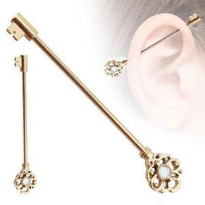 الأزياء مفتاح نمط الأذن الصناعية الحديد سقالة بار ثقب الغضروف eearring مجوهرات العصرية عشيق