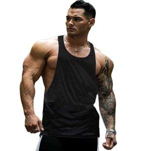 العلامة التجارية صالات رياضية ملابس تجريب أكمام قميص تانك الأعلى الرجال كمال الاجسام اللياقة البدنية الرجال الرياضية العضلات سترات tanktopm-XXL الرجال قمم