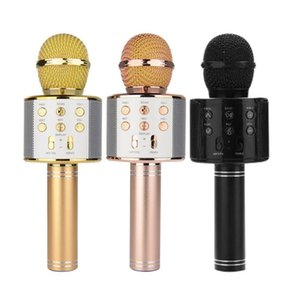 WS858 Handheld Microphone Bluetooth Wireless KTV 858 With Speaker Mic Microfono Loudspeaker