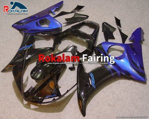 For Yamaha YZF-R6 05 YZF R6 2005 Fairing YZFR6 YZF600 YZF 600 2005 Blue Black Aftermarket Cowling (Injection Molding)
