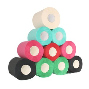 Roll paper Household color gift red black blue green pink roll printed toilet paper