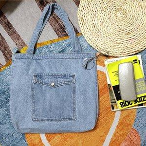 Evening Bags Designer Women Denim Shoulder Cotton Canvas Fabric Jeans Shopping Handbag Female Casual School Books Tote Crossbody Bag