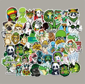 50 spoof smoking cartoon graffiti stickers Skin Protectors laptop luggage car skateboard decoration sticker Computer Accessories